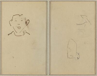 Paul Gauguin, 'Boy's Face; Two Sheep [verso]', 1884-1888