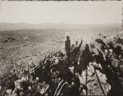 Mark Klett, 'Self Portrait with Saguaro About my Same Age, Pinacate, Sonora', 1999