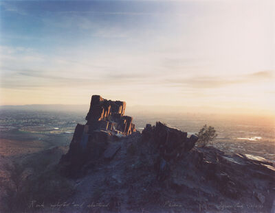 Mark Klett, 'Rock Uplifted and Shattered, Phoenix, Squaw Peak 12/18/83', 1983