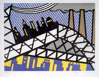 "Roy Lichtenstein, 'Illustration for ""Bayonne en Entrant dans NYC""', 1992"