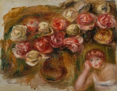 Pierre-Auguste Renoir, 'Étude de la femme et de fleurs', ca. 1915