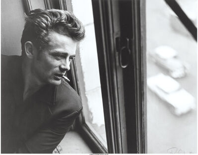 Roy Schatt, 'James Dean in window with cigarette, ABC Studios, New York City', 1964