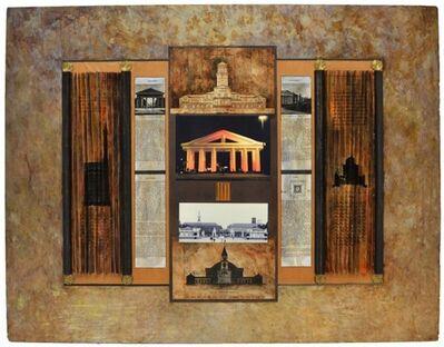 "Vera Habrecht-Simons, 'Homage to ""Ettlinger Tor"" (Gates to greek Temple) and Architect Weinbrenner', 1990"