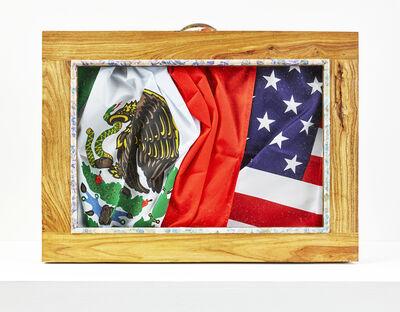 Meschac Gaba, 'Valise diplomatique (Mexique - USA)', 2017