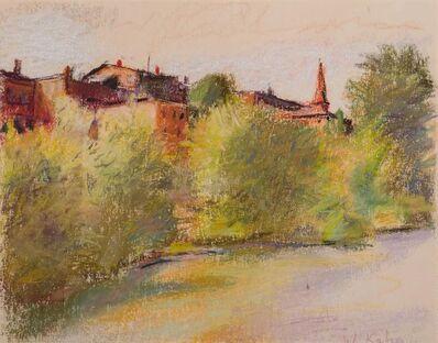 Wolf Kahn, 'Brattleborro Seen as a Flugstadt (European River Town)', 1980