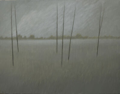 Robert Kipniss, 'Clouds & Six Trees'