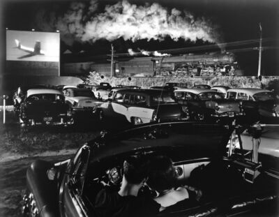 O. Winston Link, 'Hotshot Eastbound at Iaeger Drive-In, West Virginia', 1956