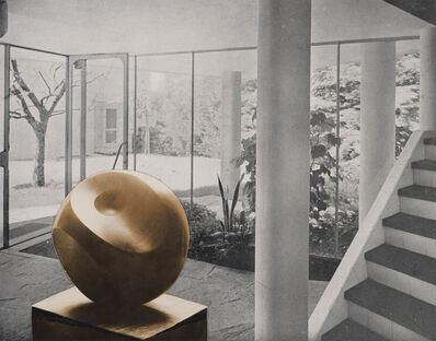 Barbara Hepworth, 'Photo-collage with Helicoids in Sphere in the entrance hall of flats designed by Alfred and Emil Roth and Marcel Breuer at Doldertal, Zurich', 1939