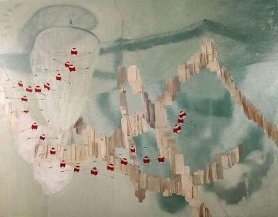 Thuy-Van Vu, 'In the Space of Sleep (1,000 Tags, Mosquito Net, and Part of a Dragon Mobile)', 2005