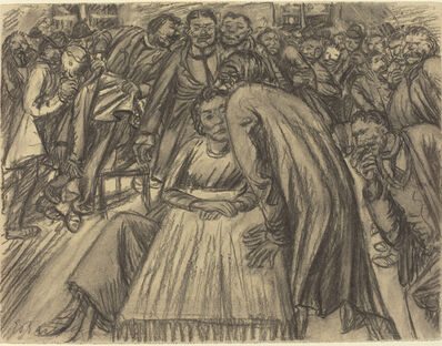 Ernst Barlach, 'The Couple in the Crowd', 1917