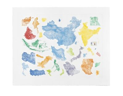 Sam Durant, 'Proposal for a Map of the World', 2015