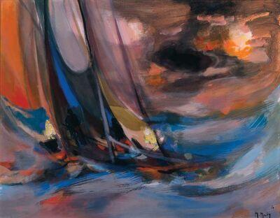 Marcel Mouly, 'Yachtman Au Ciel d' Orage', 1970