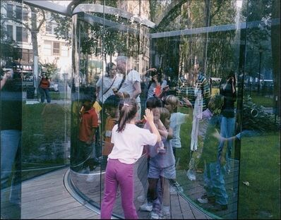 "Dan Graham, '""Fun for Kids at my Work in a Park in Manhattan"" For Parkett 68', 2003"