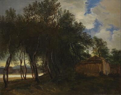 Alexandre Calame, 'Idyllische Uferpartie an der Rhone vor Avignon', 1840-1864