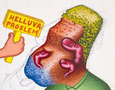 "Peter Saul, '""Helluva Problem""', 2012"