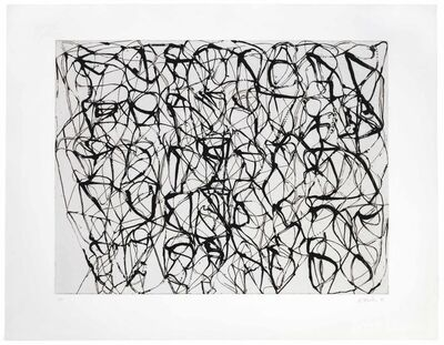 Brice Marden, '#4, from Cold Mountain Series, Zen Studies (Early State)', 1990