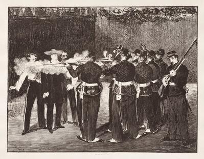 Édouard Manet, 'The Execution of Emperor Maximilian', 1868; printed 1884