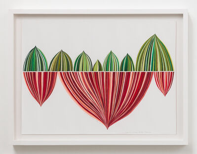 Danica Phelps, 'Red and Green Stripe Panel: Puerto Rico Hurricane Recovery Fundraiser', 2018