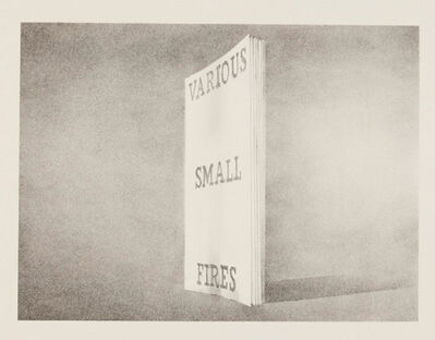Ed Ruscha, 'Various Small Fires', 1970