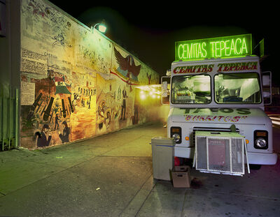 Jim Dow, 'Cemitas Tepeaca Taco Truck, Five Points, East Los Angeles, California', 2008