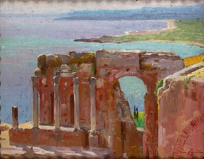 Edoardo Tani, 'View of Taormina', 1930's