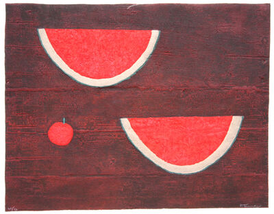 Rufino Tamayo, 'Sandias con Manzana (Watermelons with Apple)', 1985