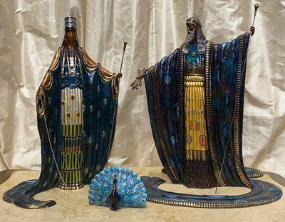 Erté (Romain de Tirtoff), 'Hera & Zeus with Peacock', 1989
