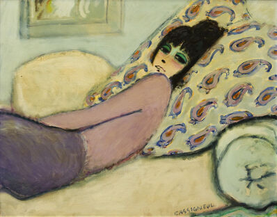 Jean-Pierre Cassigneul, 'Femme Alongee (Le Divan)', 1972