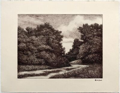 Luis Colan, 'Bend on the Road', 2021