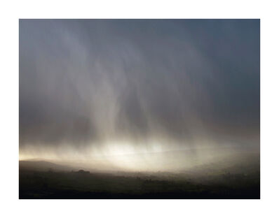 Garry Fabian Miller, 'Storm, in the shelter of Bone Hill Rocks, looking south down the Widecombe Valley ', Winter 2014