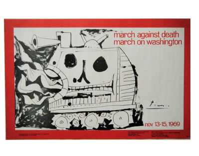 "Pablo Picasso, '""March Against Death-March on Washington"", 1969, Poster, Lithograph on Paper.', 1979"