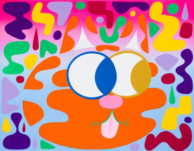 Isaac Tin Wei Lin, 'Orange Blendy Cat', 2014