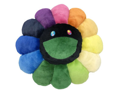 Takashi Murakami, ''Flowers' (rainbow/black) Plush Cushion', 2020
