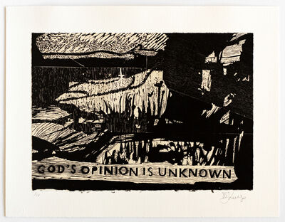 William Kentridge, 'God's opinion is unknown', 2019