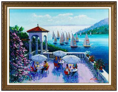 Kerry Hallam, 'Kerry Hallam Large Original Acrylic Painting On Canvas Signed Seascape Water Art', 20th Century