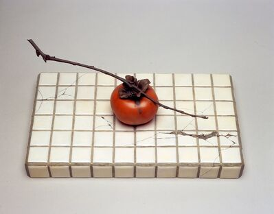Fuyuki Maehara, 'Ikkoku -tiles and a persimmon-', 2006