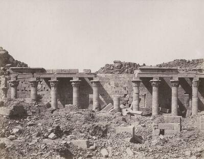 Félix Teynard, 'Western Colonnade--Ruins Seen from Point S, Island of Philae, Egypt', 1851, 52/1851, 52
