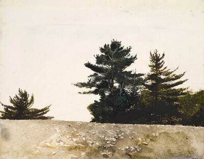 Andrew Wyeth, 'Cutler Cove, Study for Sandspit', 1953