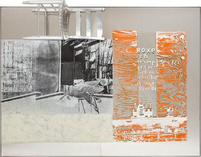 Robert Rauschenberg, 'Pegasits/ROCI USA (Wax Fire Works)', 1990