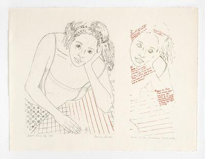 Emma Amos, 'Girl with Checkered Tablecloth', 1978