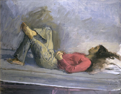 Raphael Soyer, 'Girl in Red Sweater and Jeans', 1974