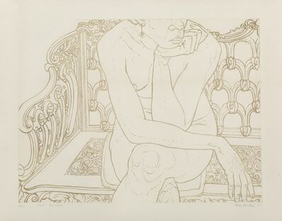 Philip Pearlstein, 'Nude on Iron Bench', 1975
