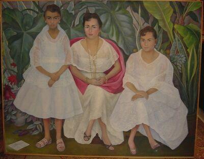"Diego Rivera, '""Familia Veracruzana con trajes papantlecas"" ', 1957"