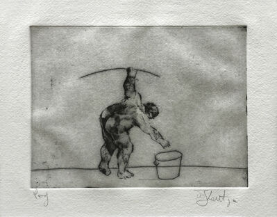 William Kentridge, 'Untitled (Artist Bending)', 1998