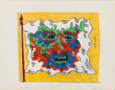 Karl Wirsum, 'Untitled (Study for Flag Series)', 1966
