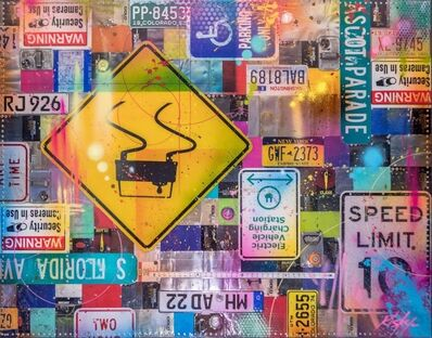 RISK, 'License Plate Piece (From Long Beach Museum of Art) ', 2018