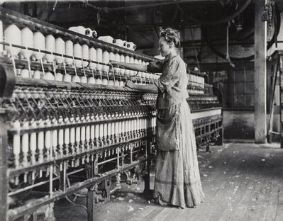 Lewis Wickes Hine, 'Woman in a Cotton Mill', circa 1910