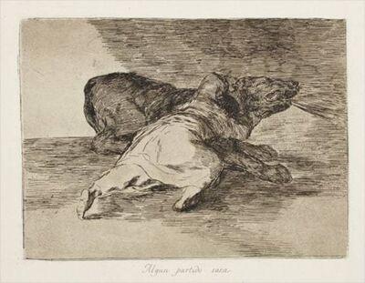 Francisco de Goya, 'ALGUN PARTIDO SACA (HE GETS SOMETHING OUT OF IT)', 1863