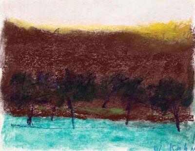 Wolf Kahn, 'Trees Against Brown Background', 2000
