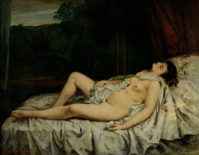 Gustave Courbet, 'Sleeping Nude', 1858